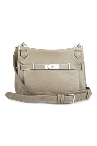Beige jypsière (31cm) shoulder bag in clemence leather