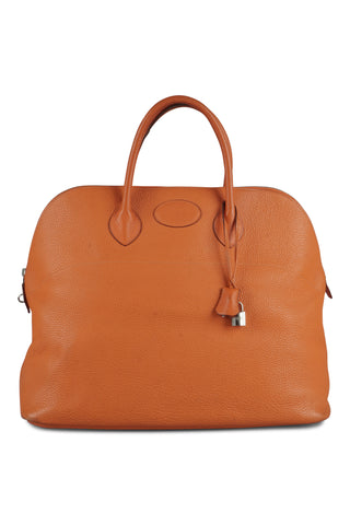 Bolide (45cm) travel bag in orange clemence  leather