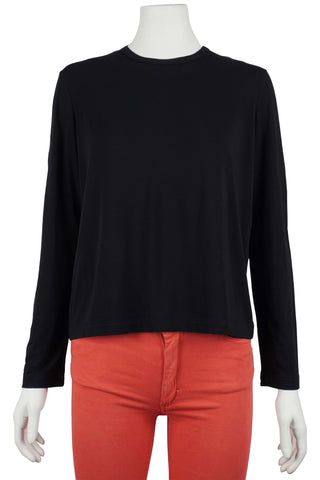 Long sleeve top in black