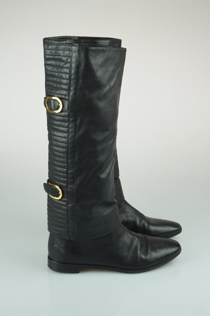 Sergio Rossi Quilted buckle boots