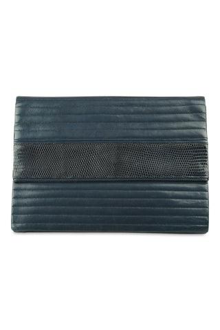 Ysl navy quilted clutch