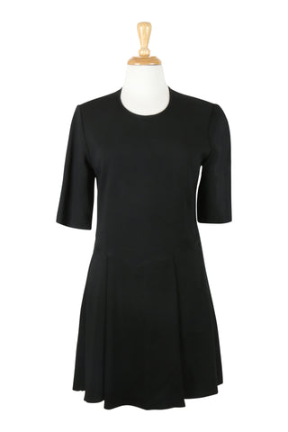 Little black dress with short sleeves