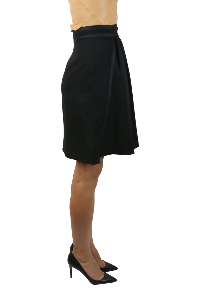 Zac Posen Black wool-blend skirt
