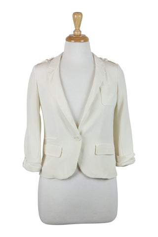Cream silk jacket