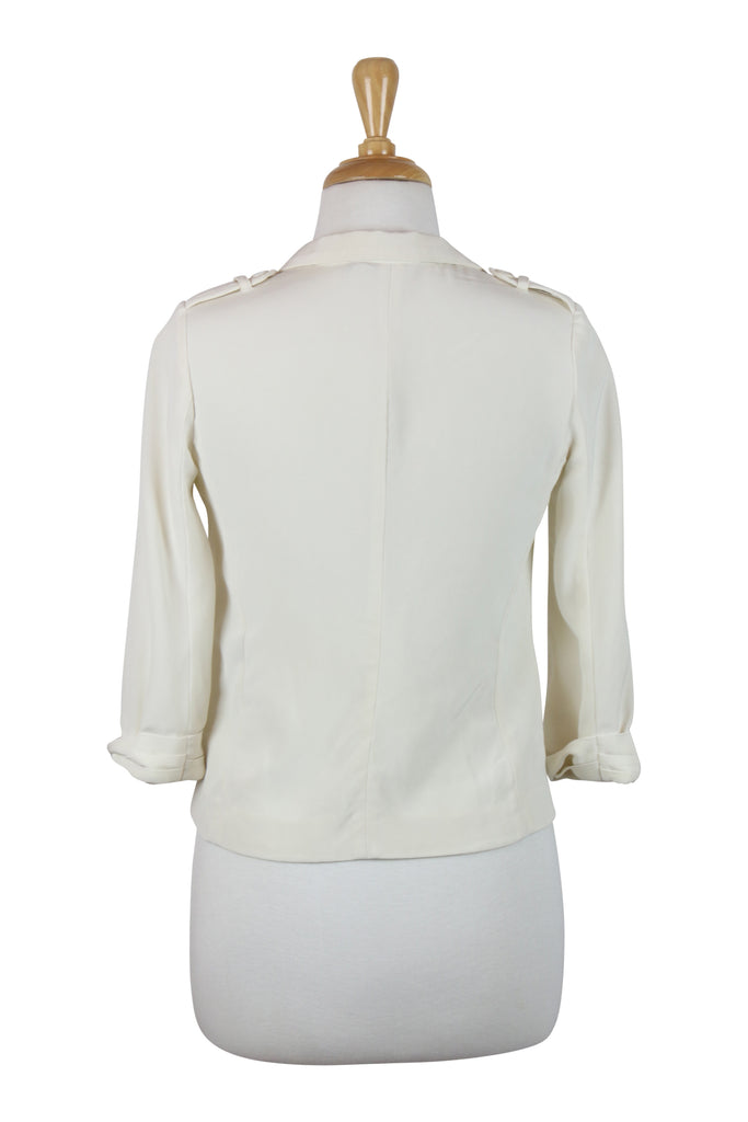 Elizabeth & James Cream silk jacket