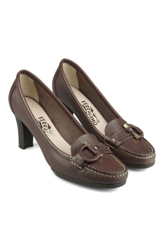 Guia loafers with heels