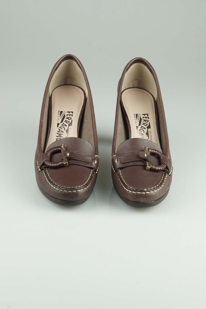 Salvatore Ferragamo Guia loafers with heels
