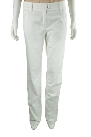 Four pocket white trousers