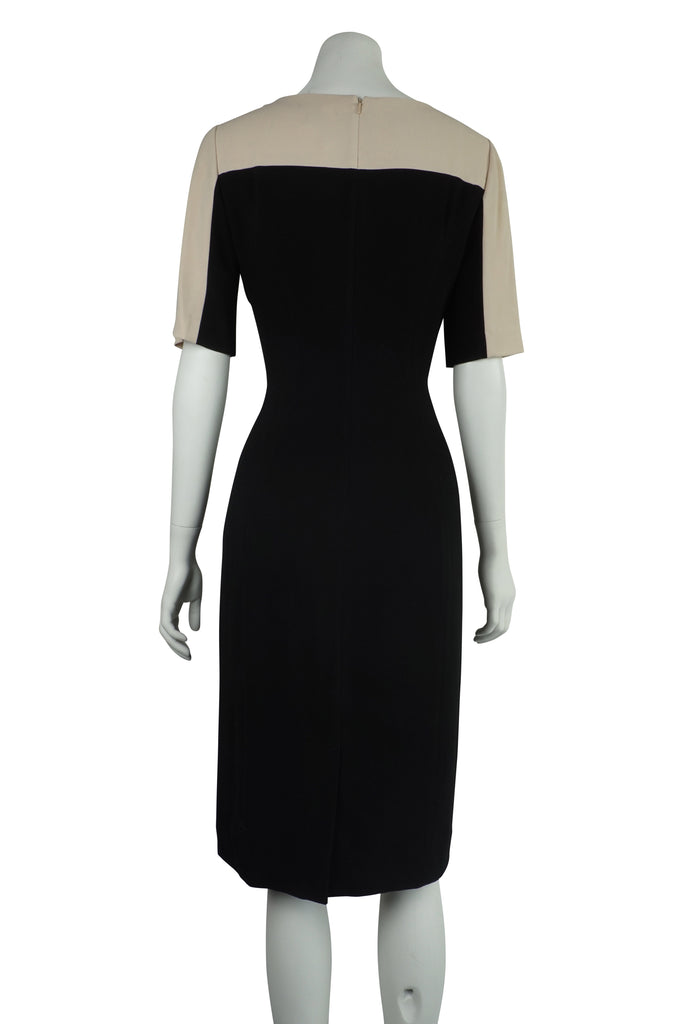 DKNY Crepe two-tone sheath dress