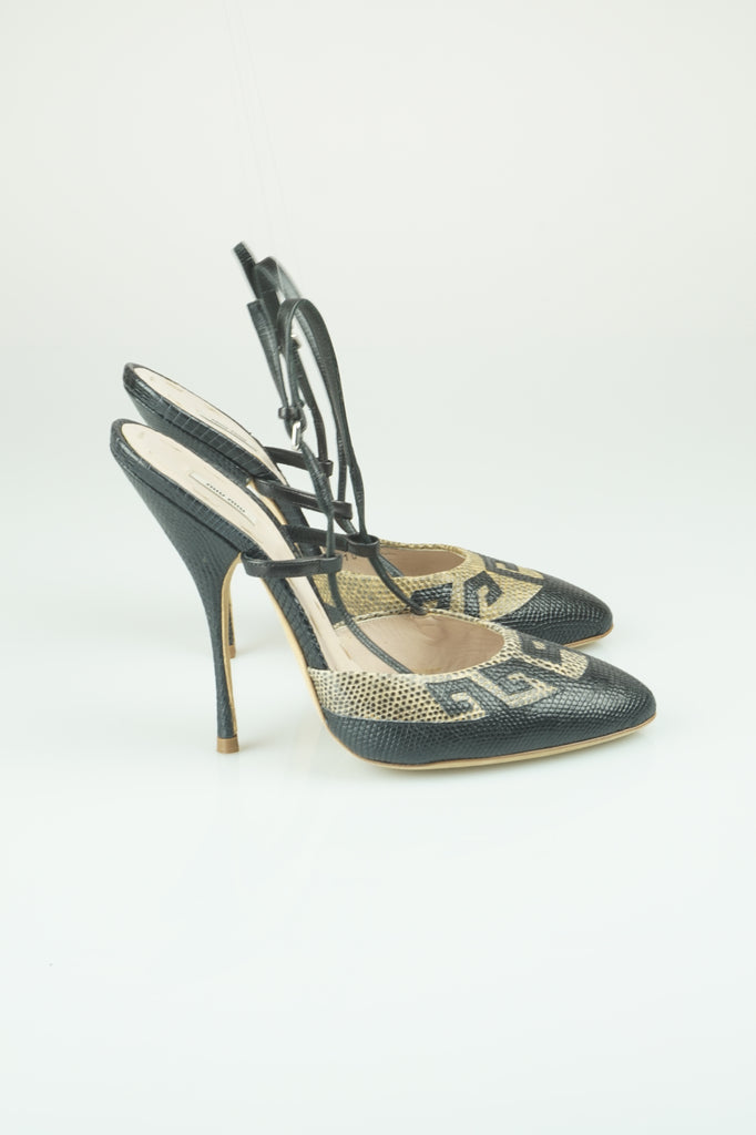 Miu Miu Greek key slingbacks