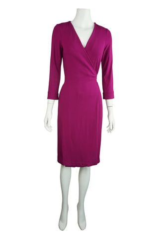 Julian magenta wrap dress