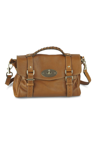 Alexa buffalo satchel in oak