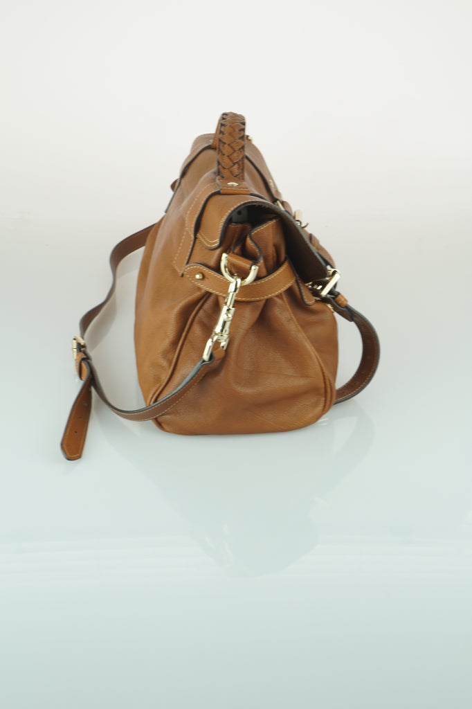 Mulberry Alexa buffalo satchel in oak