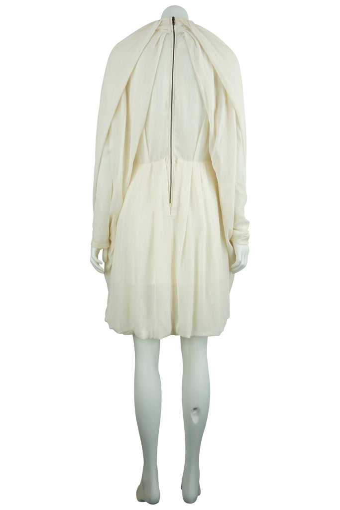 Willow Cream silk drape dress