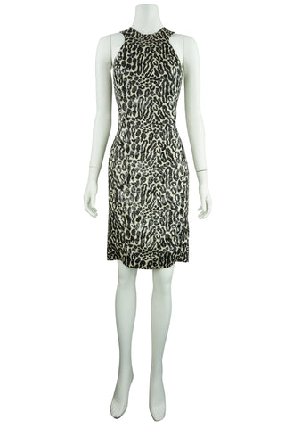 Silk shimmer leopard dress