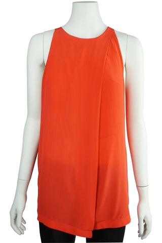 Deep orange silk top