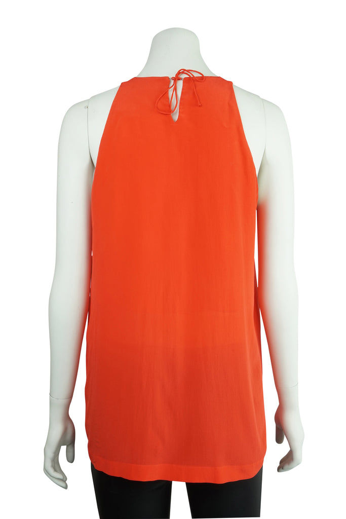 KITX Deep orange silk top