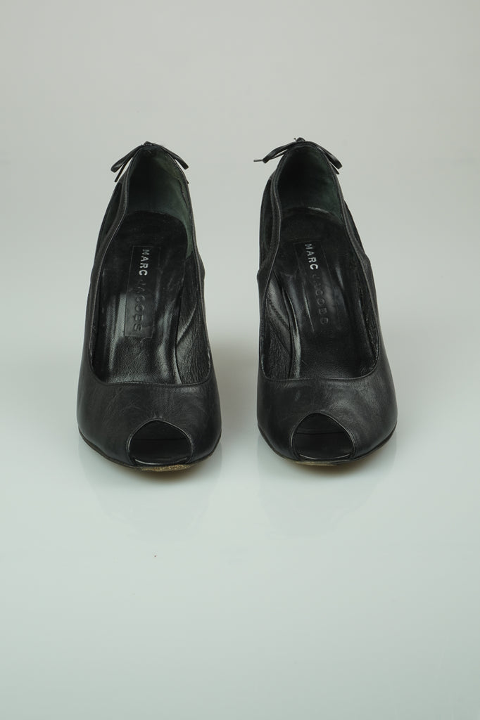 Marc Jacobs Black bow peeptoes
