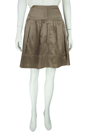 Bronze silk skirt