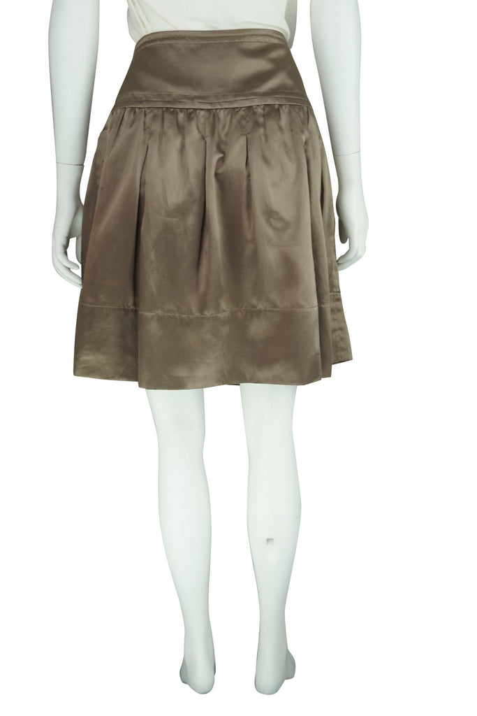 Max Azria Bronze silk skirt