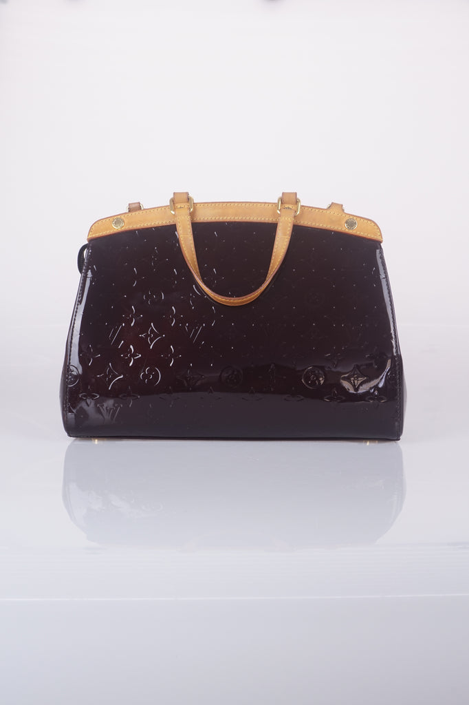 Louis Vuitton Brea amaranth vernis handbag