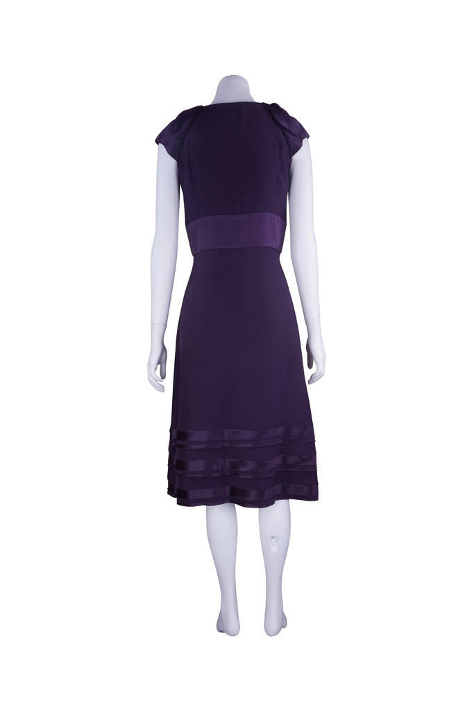 Willow Silk and satin deep purple dress