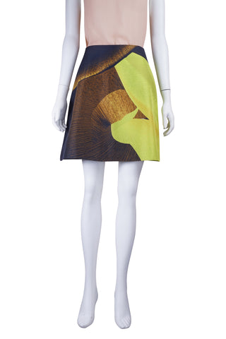 Lime digital print skirt