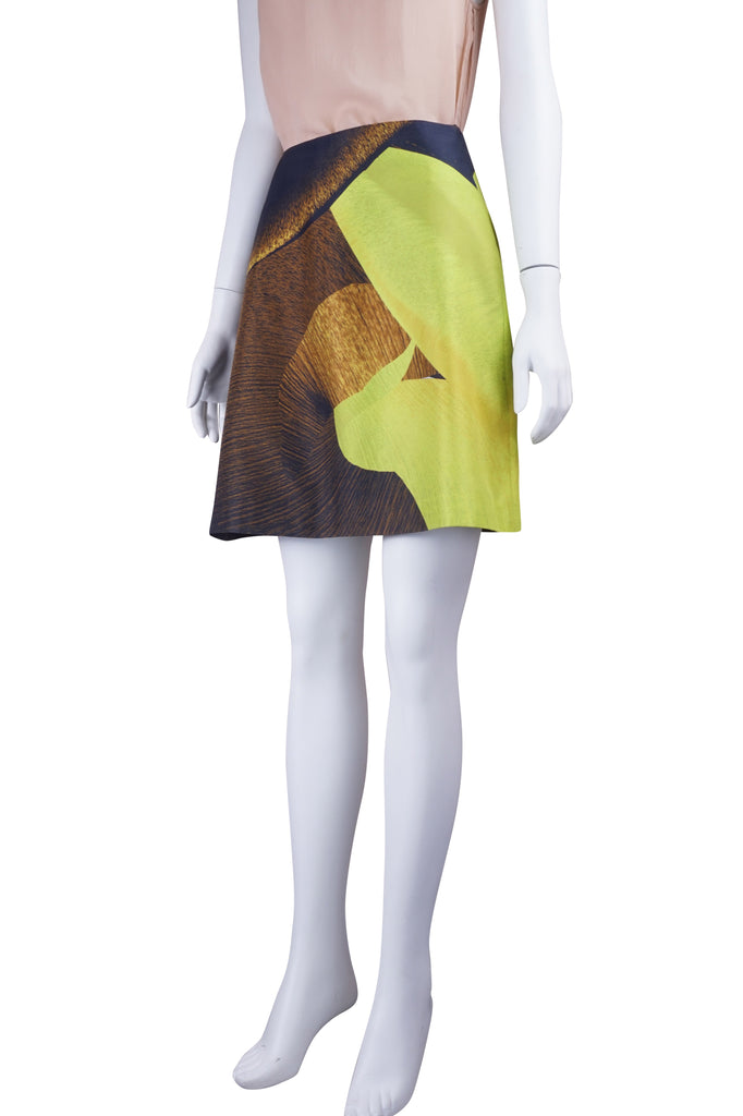 Josh Goot Lime digital print skirt