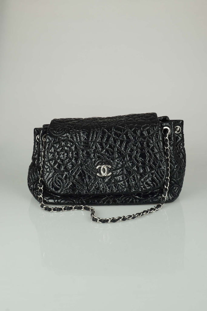 Chanel Vinyl Graphic Edge Flap Bag