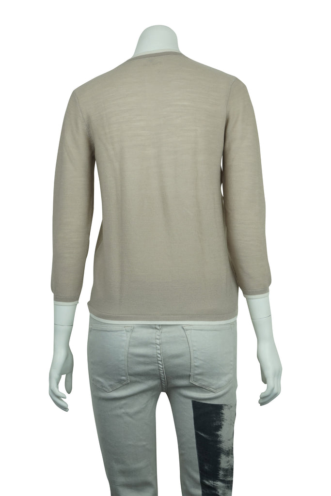 Hermes  Two tone woollen knit top