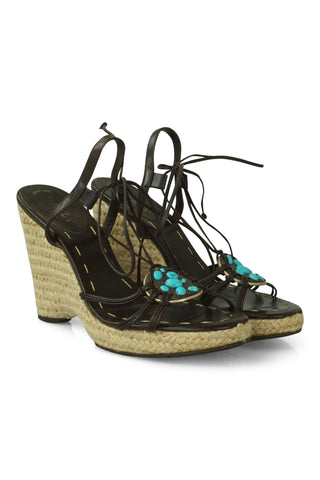 Parigi gemstone wedge sandals
