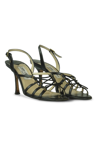 Arrisa black lace-up sandals