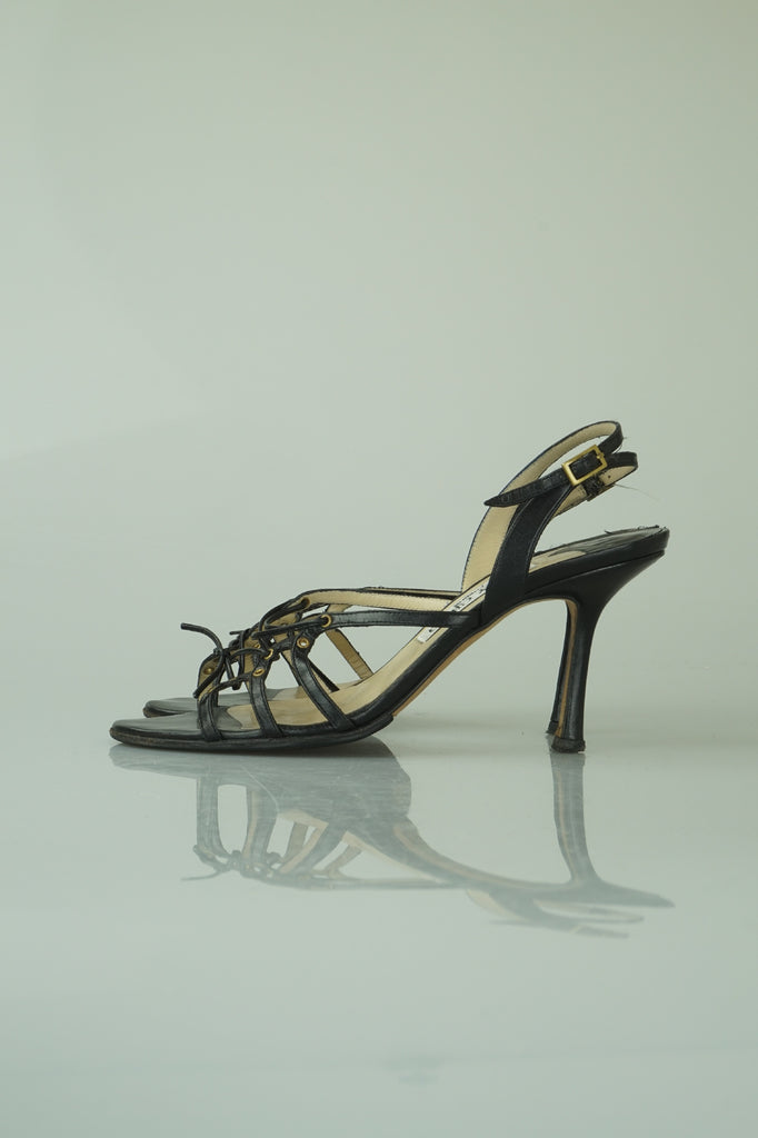 Jimmy Choo Arrisa black lace-up sandals