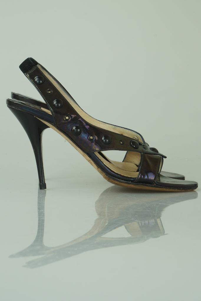 Jimmy Choo Petrol patent sandals