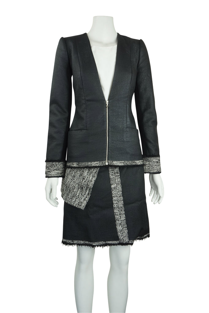 Willow Coated tweed collarless jacket