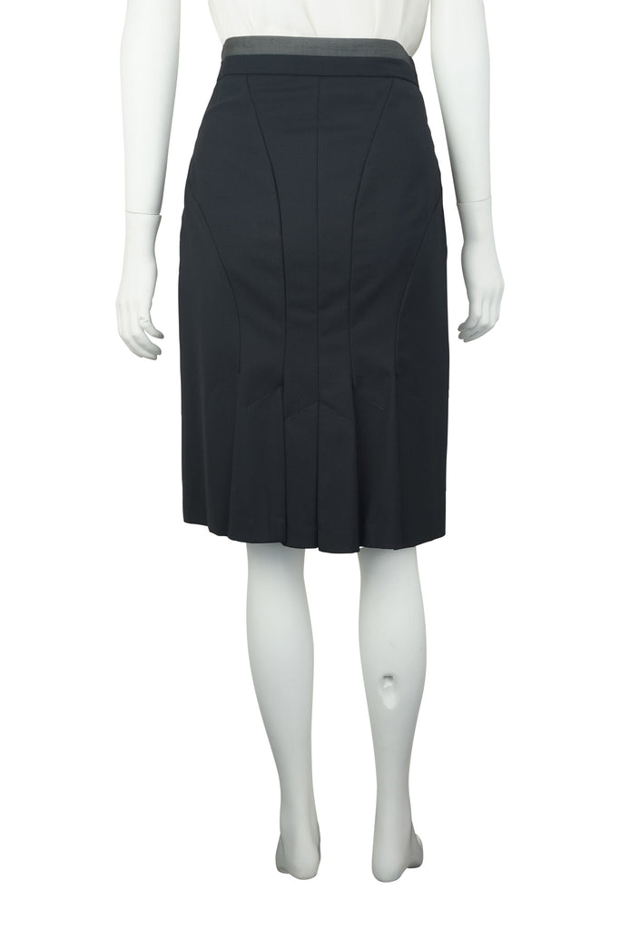 Paul Smith Black fishtail skirt
