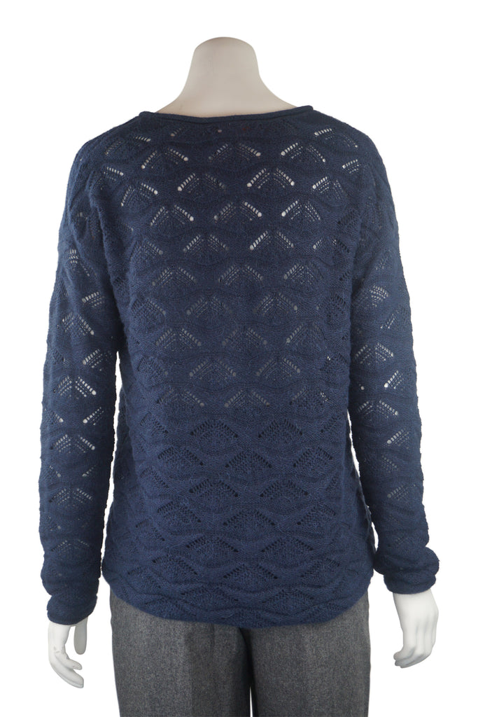 Hugo Boss Navy mohair jumper