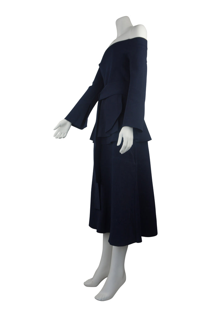 Scanlan & Theodore Strapless navy two-piece outfit