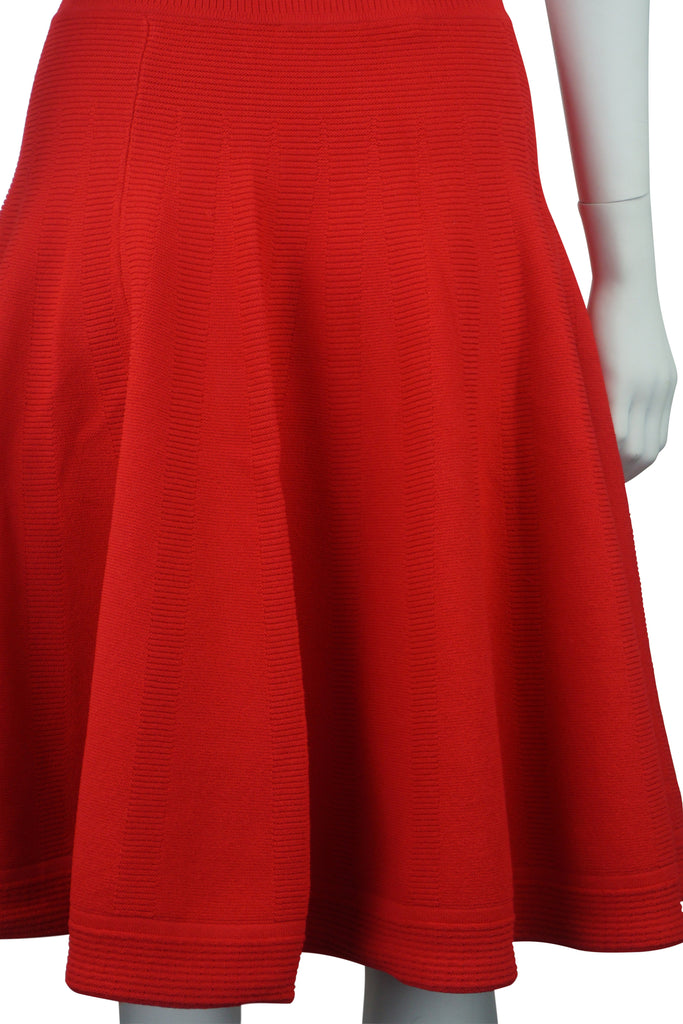 Scanlan & Theodore Red crepe knit two-piece outfit