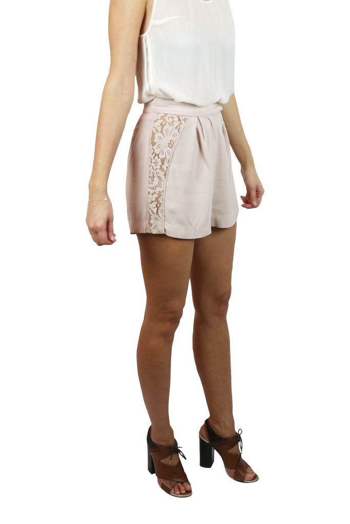 Zimmermann Champaign lace panel shorts