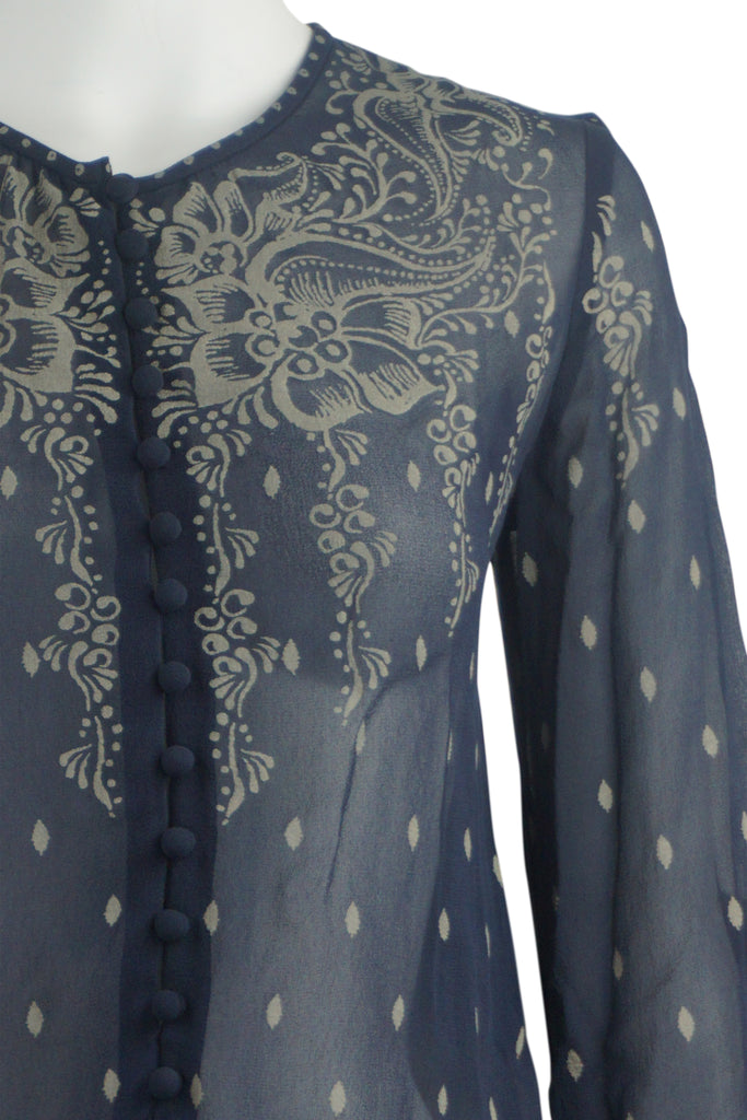 Isabel Marant (Etoile) Blouson navy silk dress