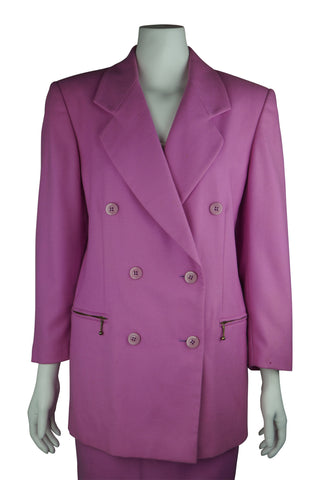 Bubblegum woollen suit jacket