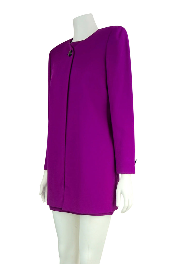 Emanuel Ungaro Fuscia dress with long jacket