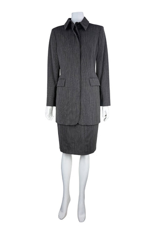 Grey barleycorn tweed suit