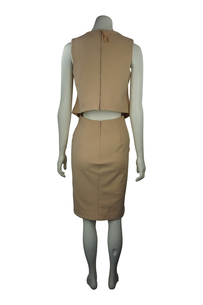 Scanlan & Theodore Camel cut away dress