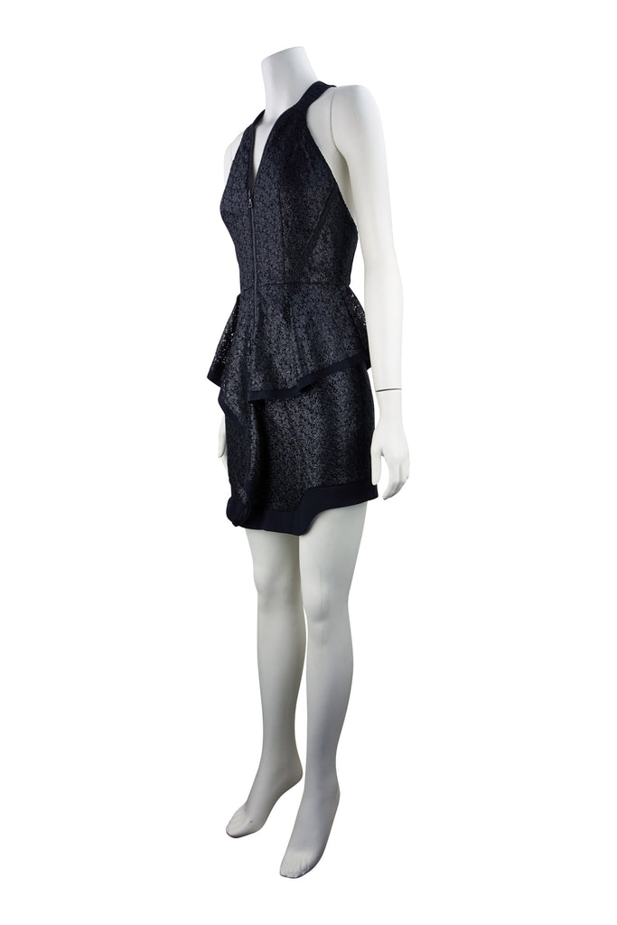 Manning Cartell Coated lace peplum dress