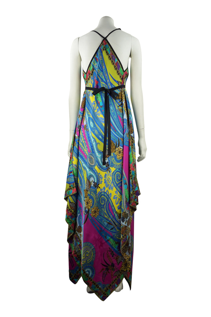 Etro Printed silk scarf dress