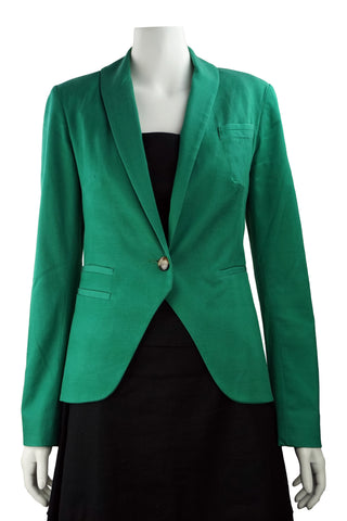 green cotton blend jacket