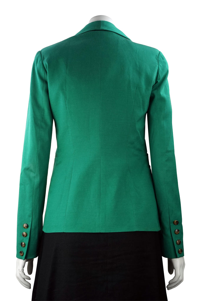 Lisa Ho Green cotton blend jacket