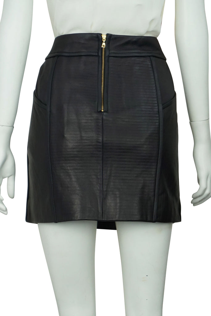 Sass & Bide Of the night leather skirt